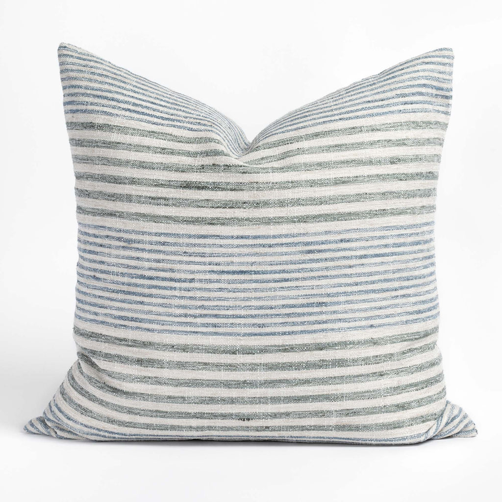 Maritime Stripe 22x22 Pillow, Seaglass