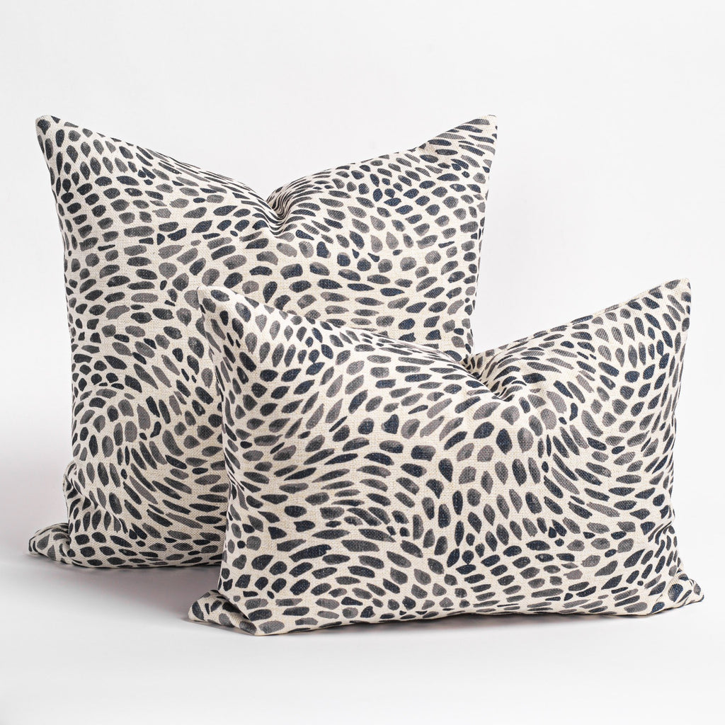 Mazzy black and white swirl print pillows from Tonic Living