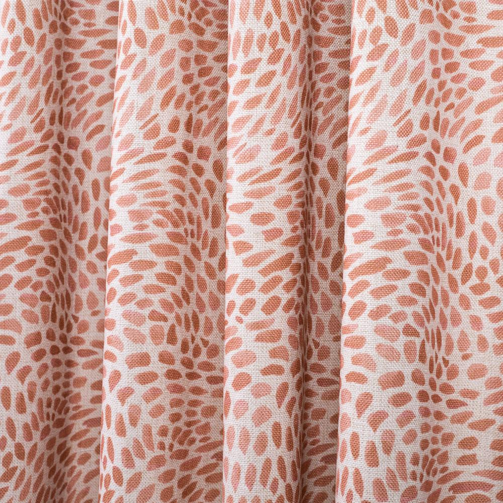 Mazzy coral pink swirl printed fabric from Tonic Living