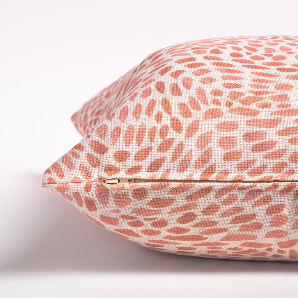Mazzy coral pink swirl printed pillow from Tonic Living