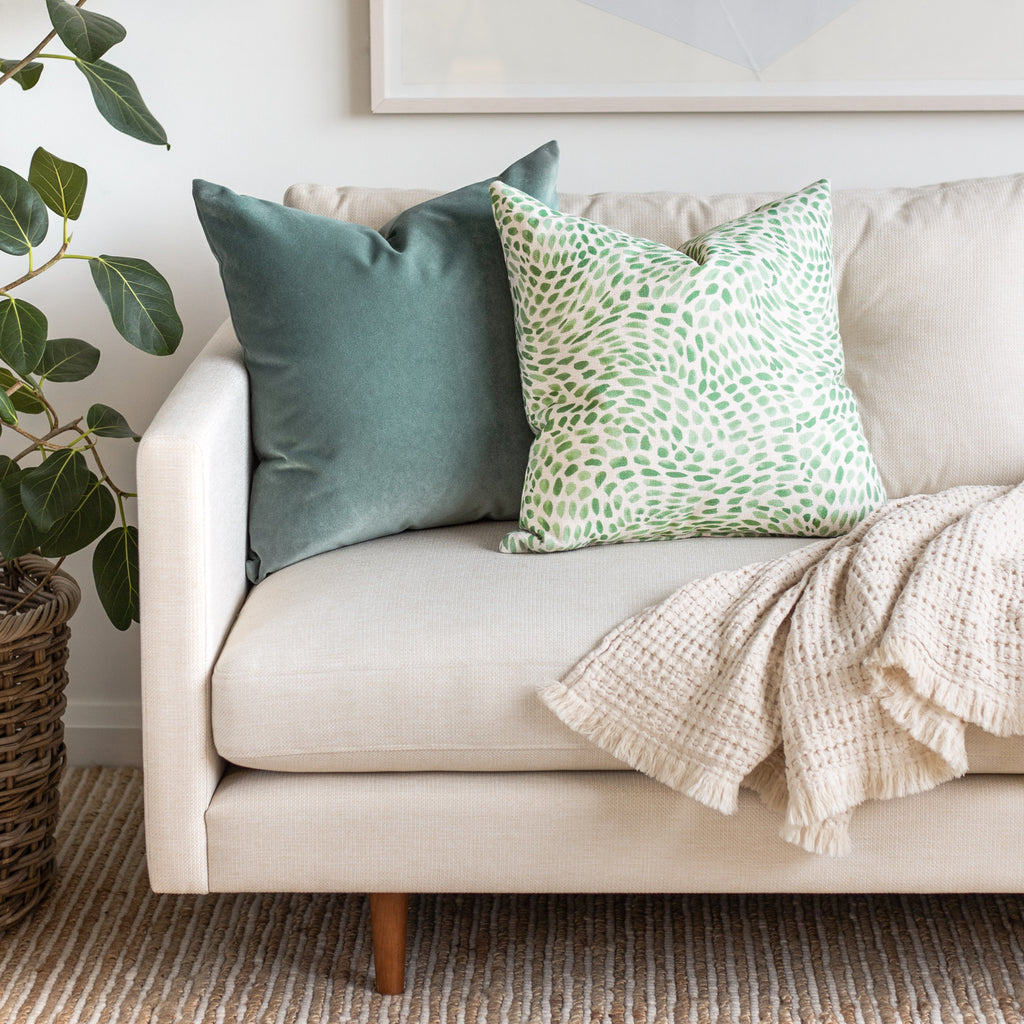 green and cream pillow combo from Tonic Living