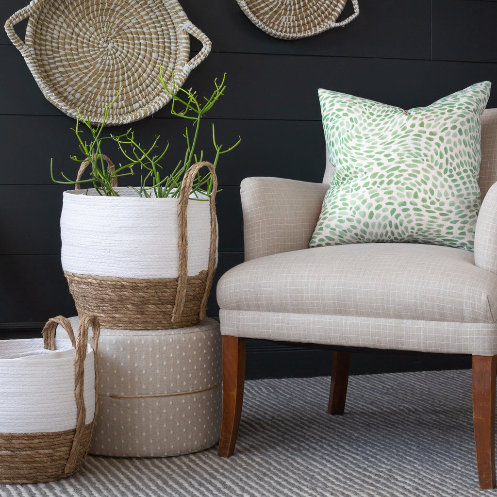 neutral with a pop of green home decor from Tonic Living