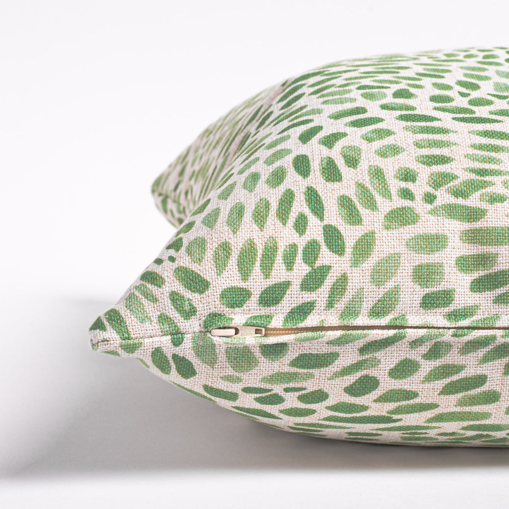 Mazzy green brush stroke print pillow from Tonic Living