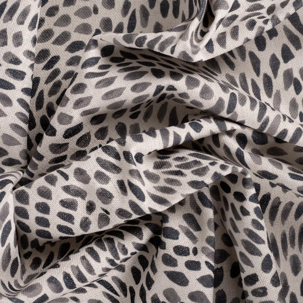 Mazzy Oxide black and white swirl print fabric from Tonic Living