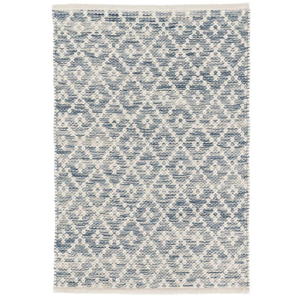 Melange Diamond blue Dash and Albert rug available at Tonic Living