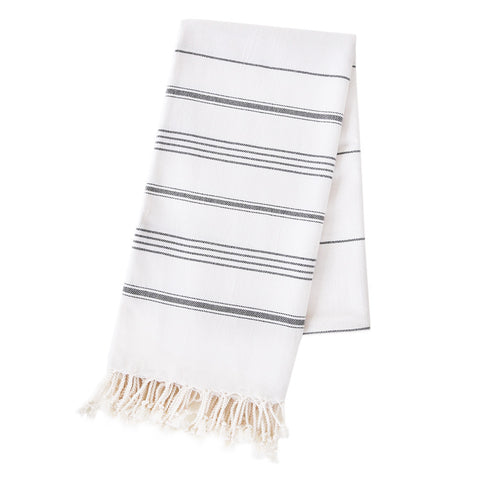 Turkish Towel - Reverse Michelle, Black