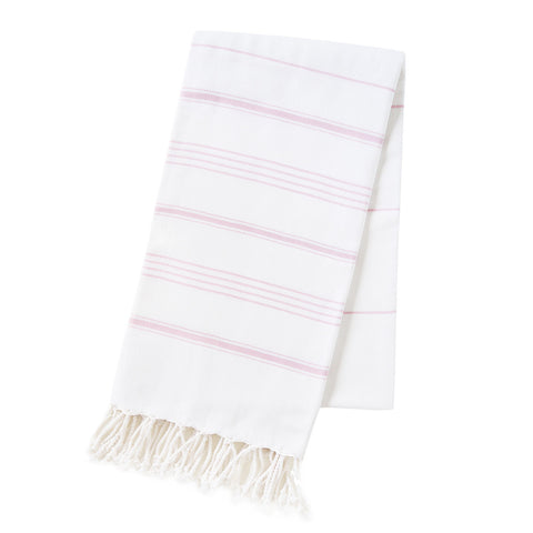 The Michelle turkish towel is incredibly soft and extra luxurious, offering a textured weave with ultra absorbency and durability. Can be used for the bath, beach, or as a scarf @tonicliving
