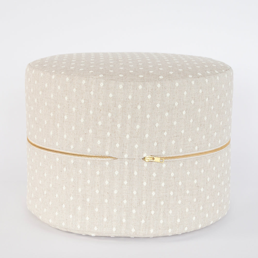 mila beige dot mini stool ottoman by tonic living