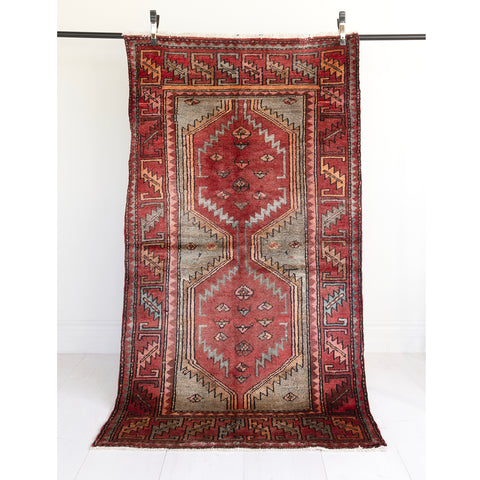 Milad, maroon vintage rug from Tonic Living