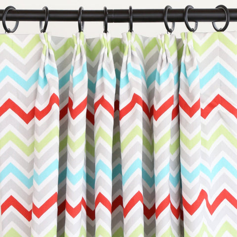 Mini Chevron, Fresh Drapes