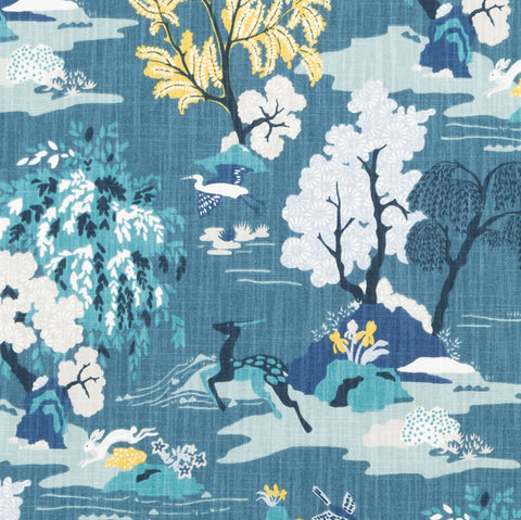 Modern Toile, Peacock - [Product_type] - Tonic Living