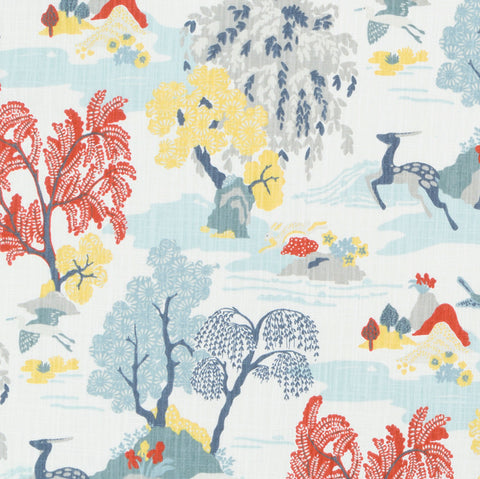 Modern Toile, Persimmon - [Product_type] - Tonic Living