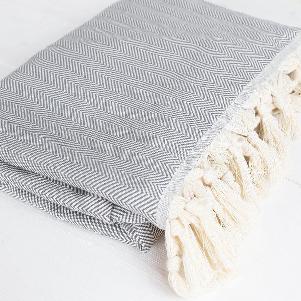 Throw Blanket - Munroe, Grey - Tonic Living