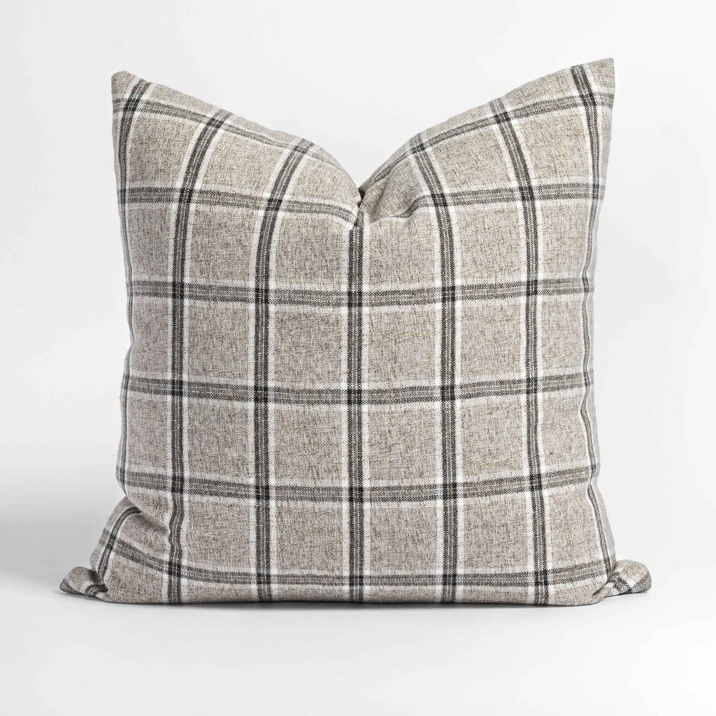 Nantucket Plaid 20x20 Pillow, Zinc