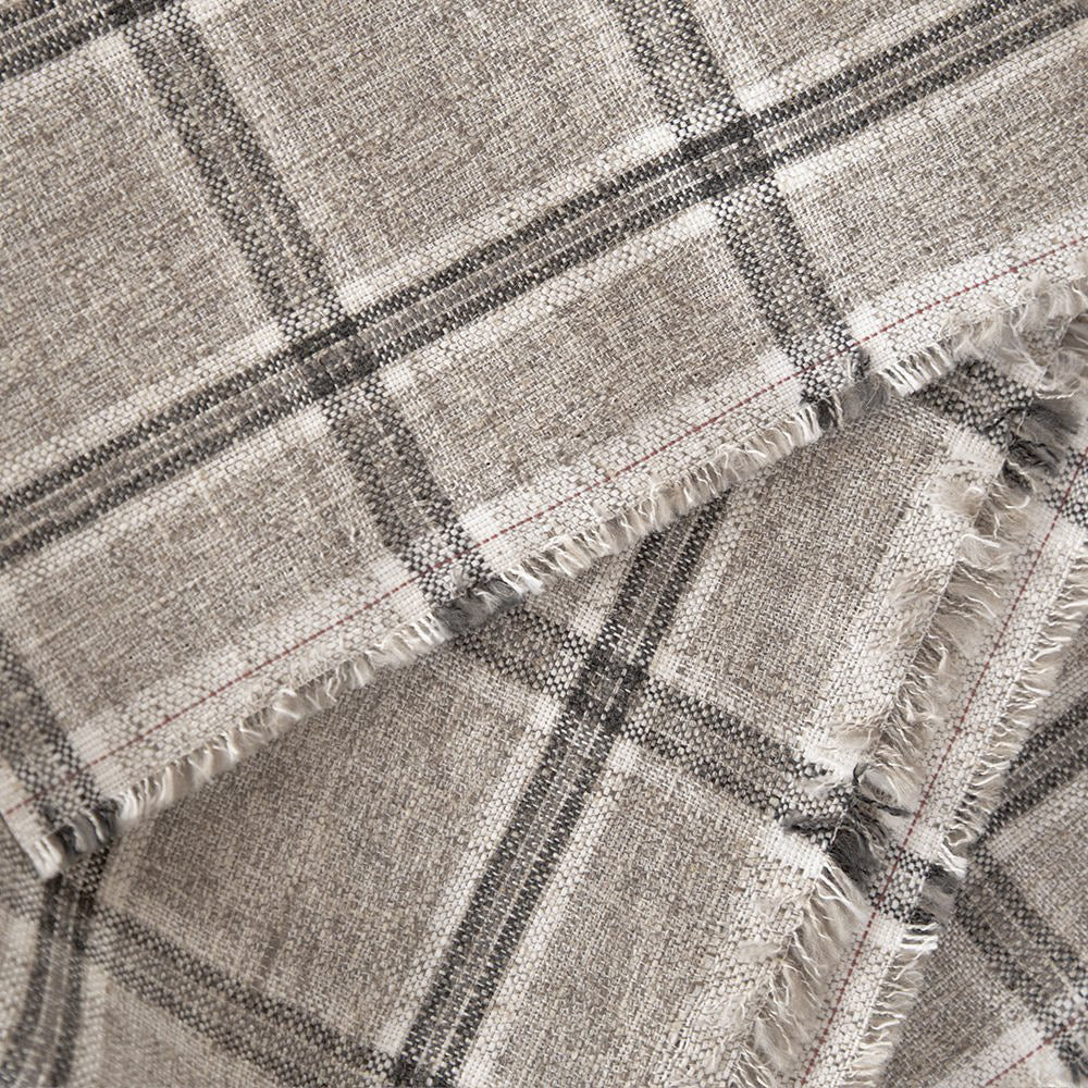 Nantucket Plaid Zinc, gray plaid fabric from Tonic Living