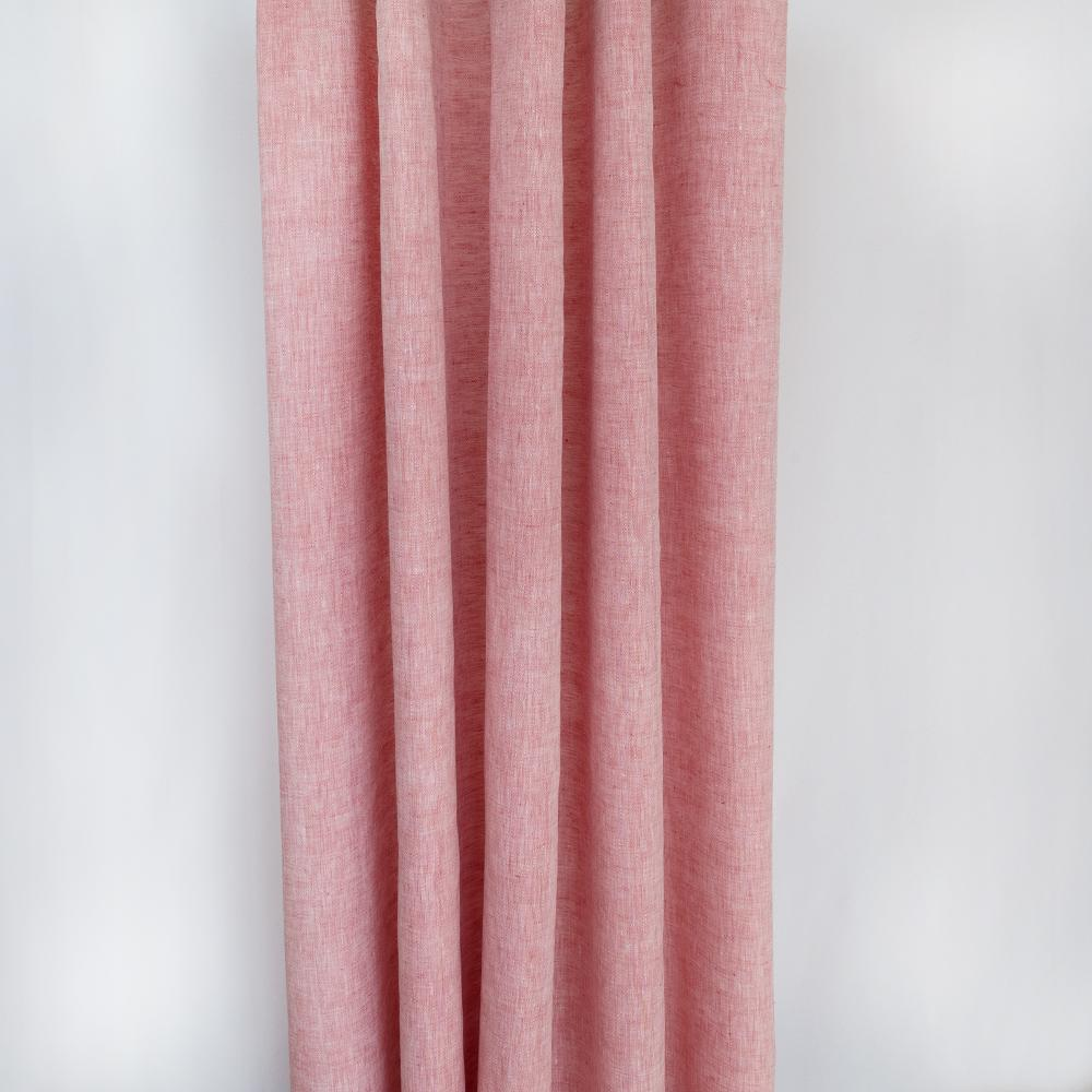 Normandy pink drapery linen fabric from Tonic Living