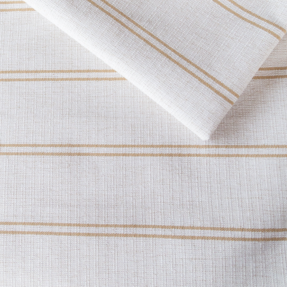 Oud Stripe Cork, a cream and straw yellow upholstery fabric from Tonic Living