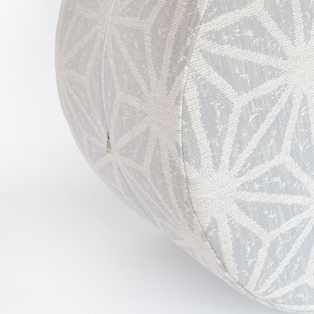 Portia, a gray and beige starburst large round ottoman table from Tonic Living