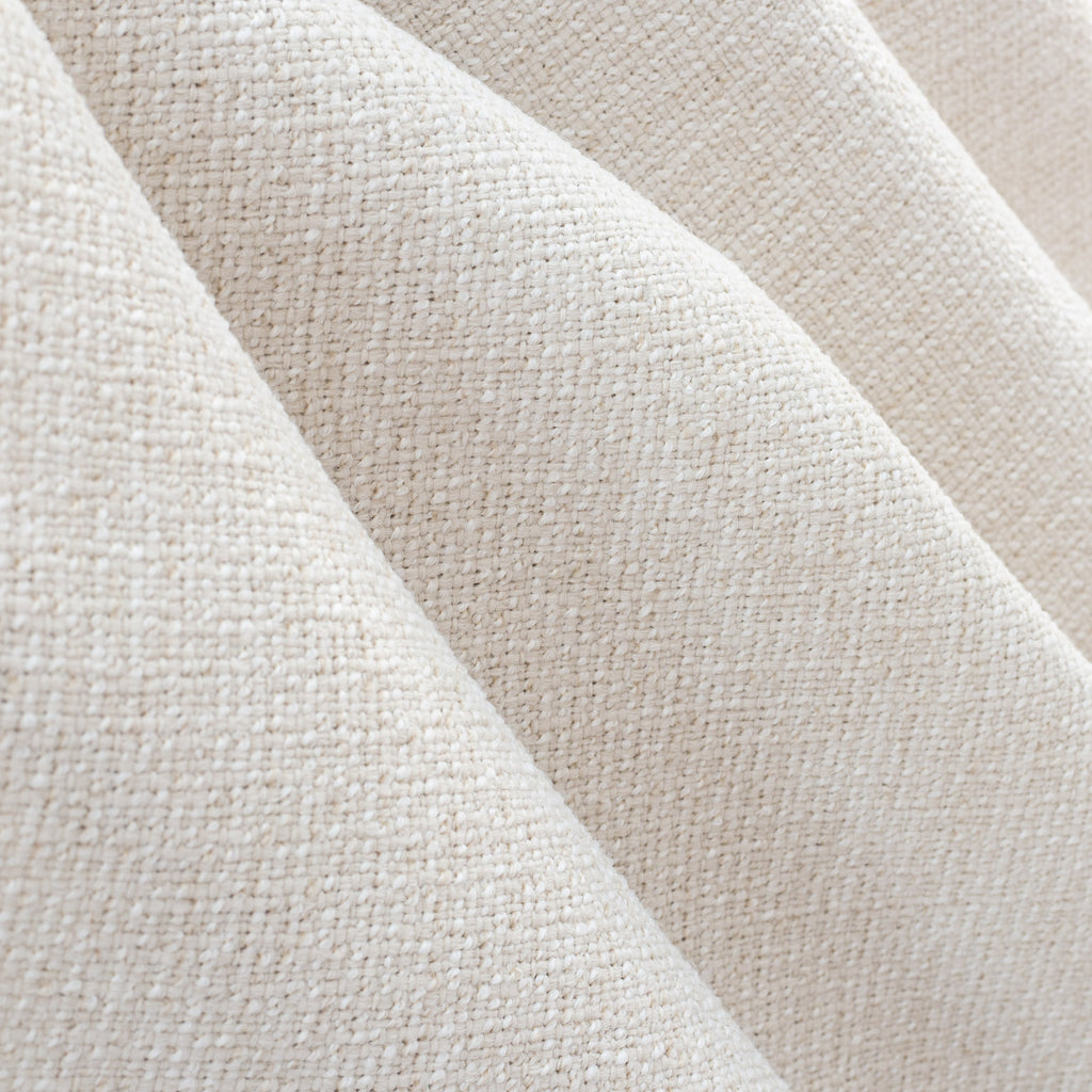 Preston Oyster indoor outdoor fabric, a light cream basket weave texture fabric from Tonic Living
