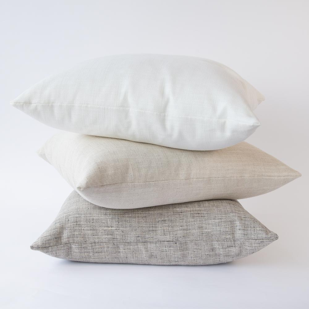 Neutral pillow combo by Tonic Living