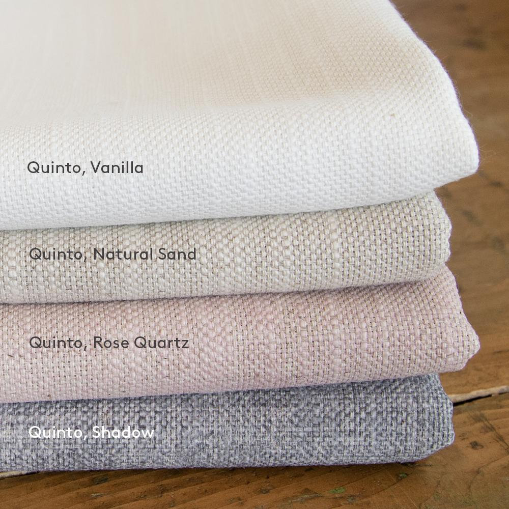 Quinto, cotton linen drapery fabrics from Tonic Living