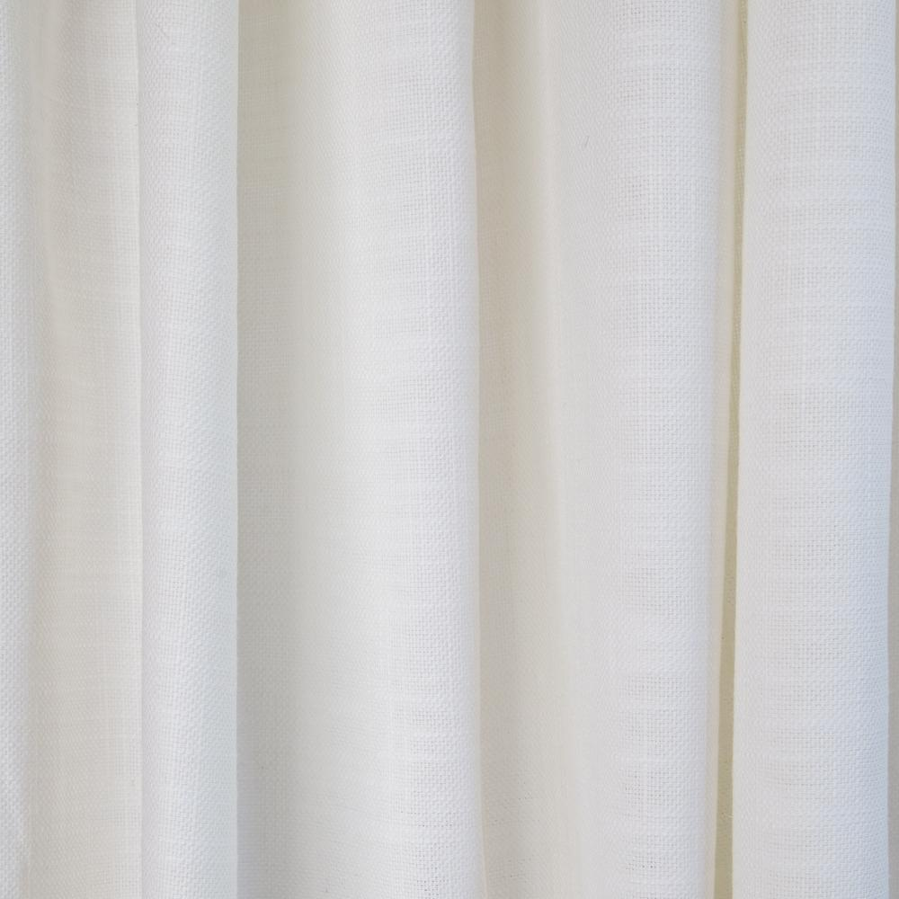 Quinto Vanilla, a nubby white drapery fabric from Tonic Living