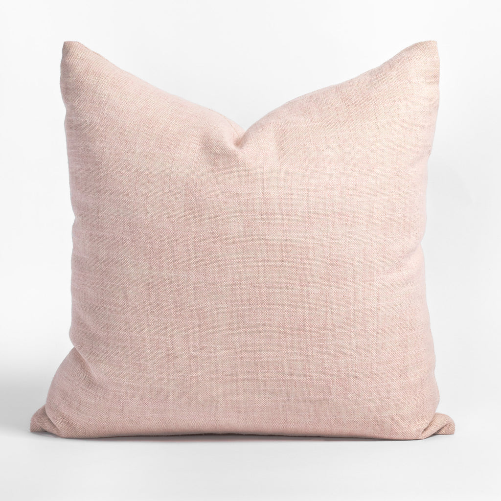 Quinto Rose Quartz, a light pink pillow from Tonic Living