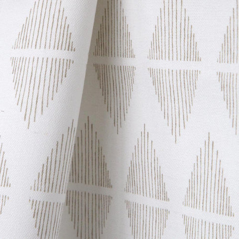 Reflect, Sea Grass - A clean, line drawn pattern in natural sea grass and white.