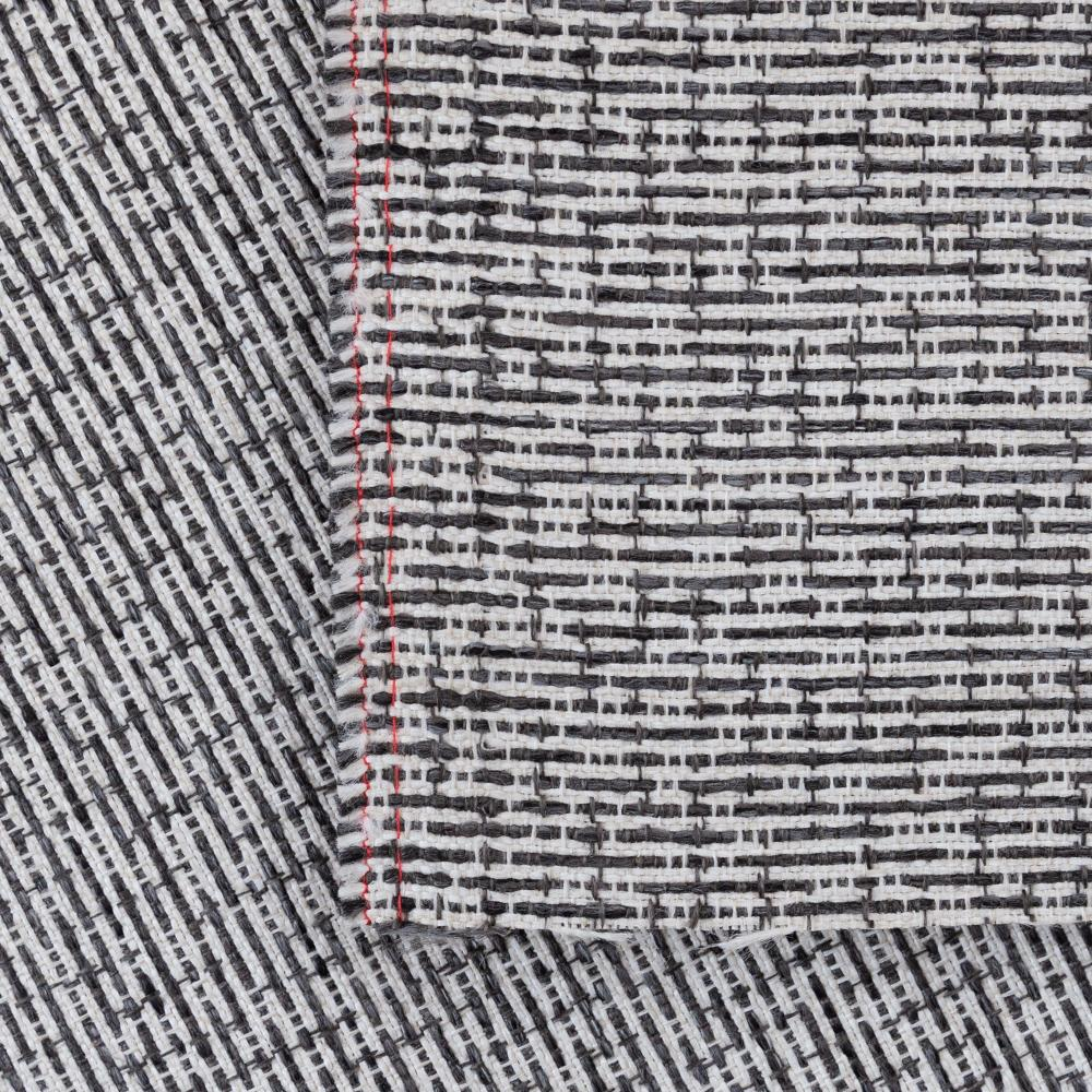 Renton Pavement, a black, gray and white textured upholstery fabric from Tonic Living