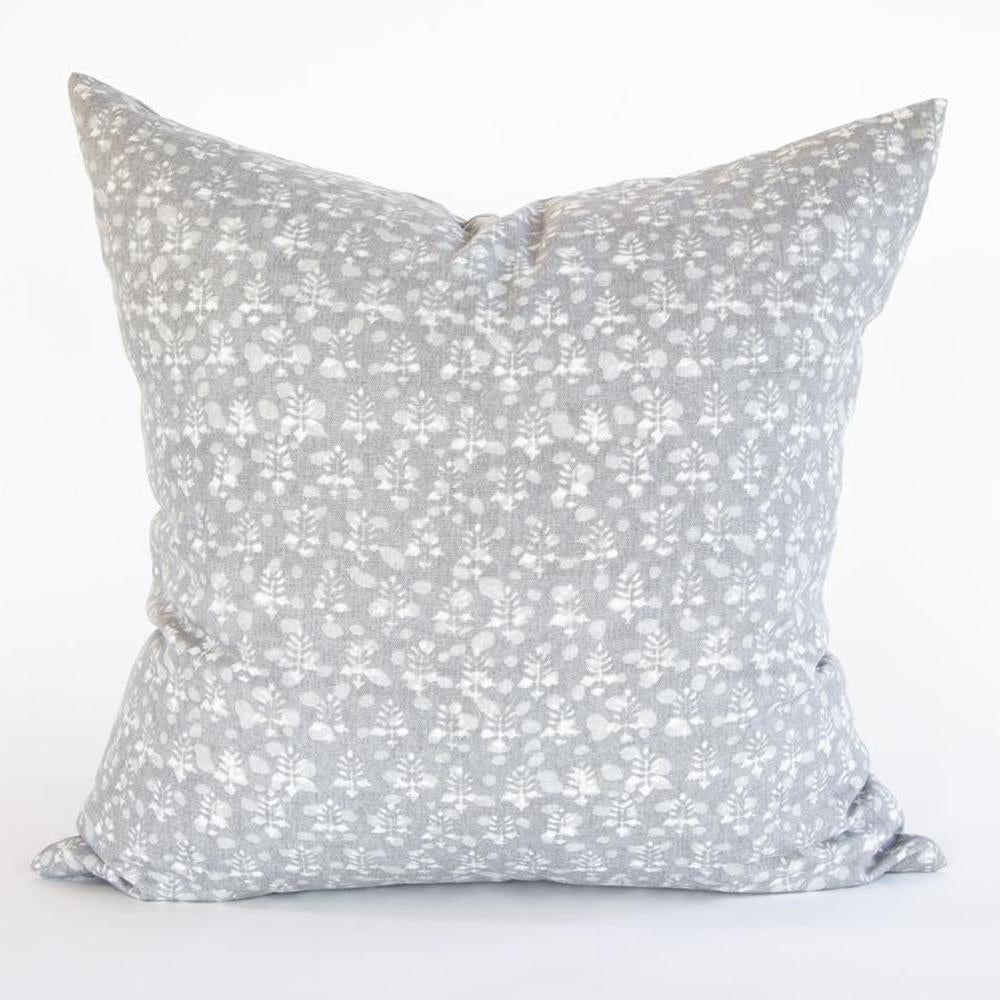 Rochelle gray floral pillow from Tonic Living