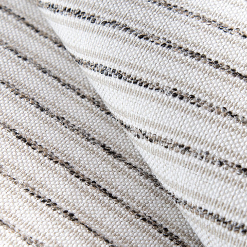Rodin Stripe, Natural - From our High Performance upholstery fabric line is this neutral stripe fabric in cream, beige, and black weave.
