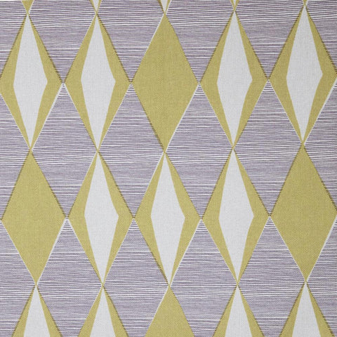 Roger That, Citron - A cool line-drawn, mid century modern inspired fabric in citron yellow and charcoal on a cream background.