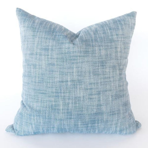 Ryder, Azure denim blue outdoor pillow from Tonic Living, former name Rollo