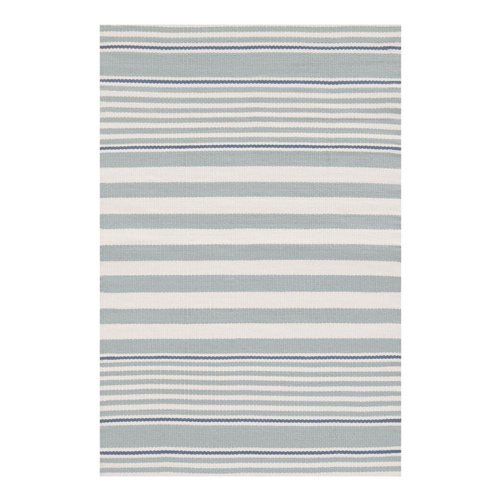 rugby stripe light blue dash and albert rug tonic living