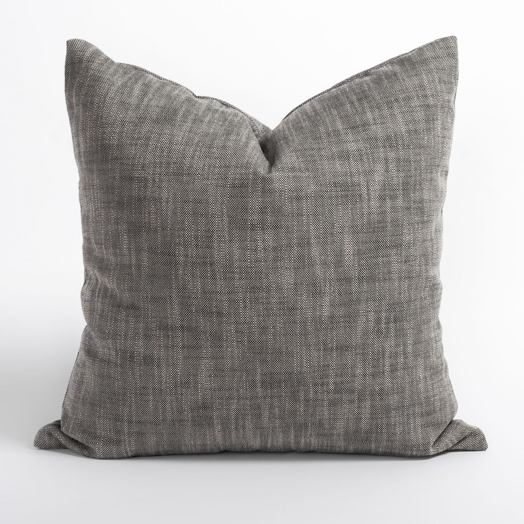 Ryder Mink salt and pepper toned indoor outdoor pillow from Tonic Living