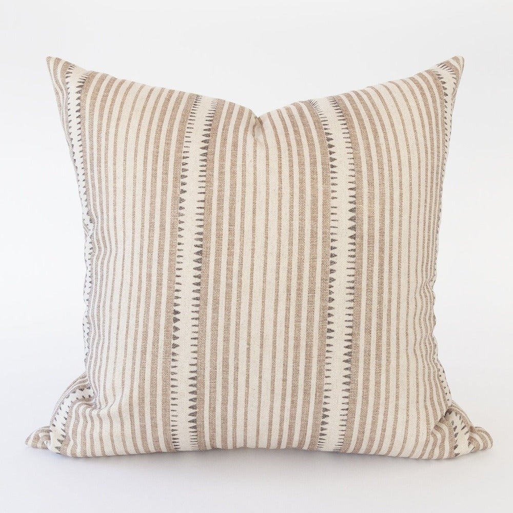 Sandpiper Pillow, Sahara, a stripe mudcloth inspired pillow from Tonic Living