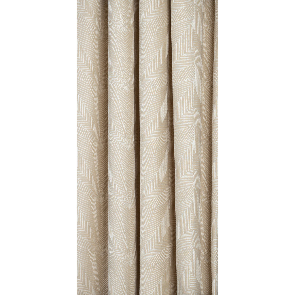 beige geometric embroidered drapery fabric from Tonic Living