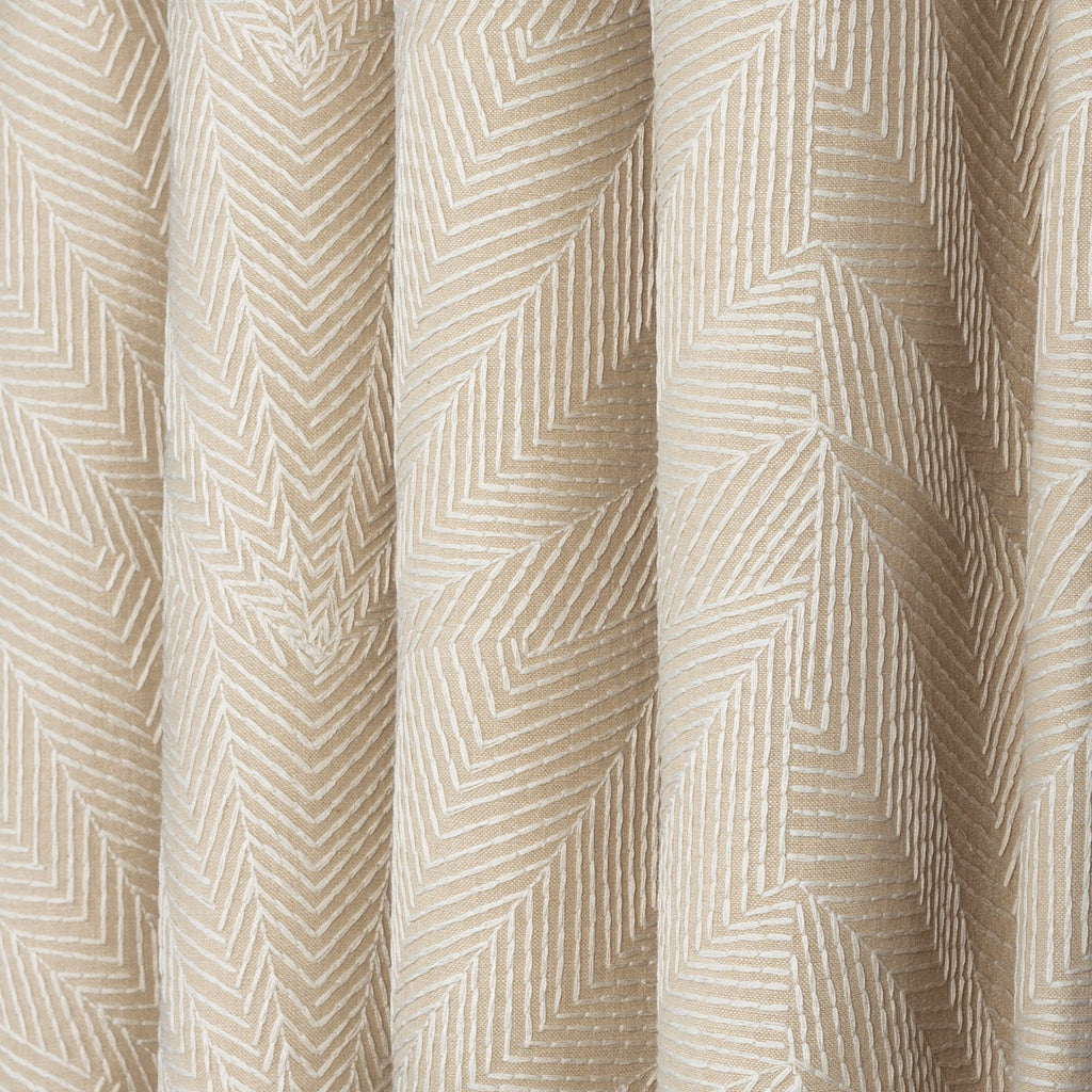 Sardee embroidered beige fabric from Tonic Living