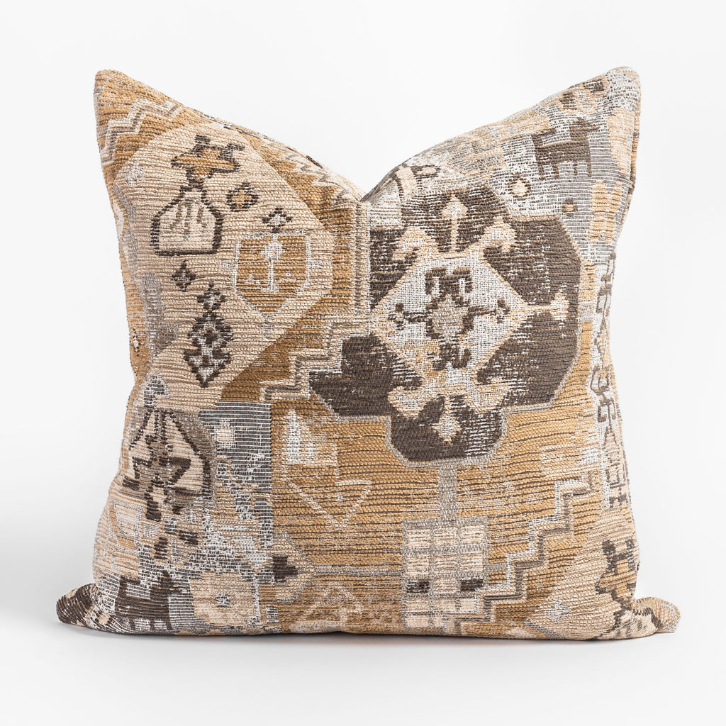 Saro Sisal, an earth tone tapestry pattern pillow from Tonic Living