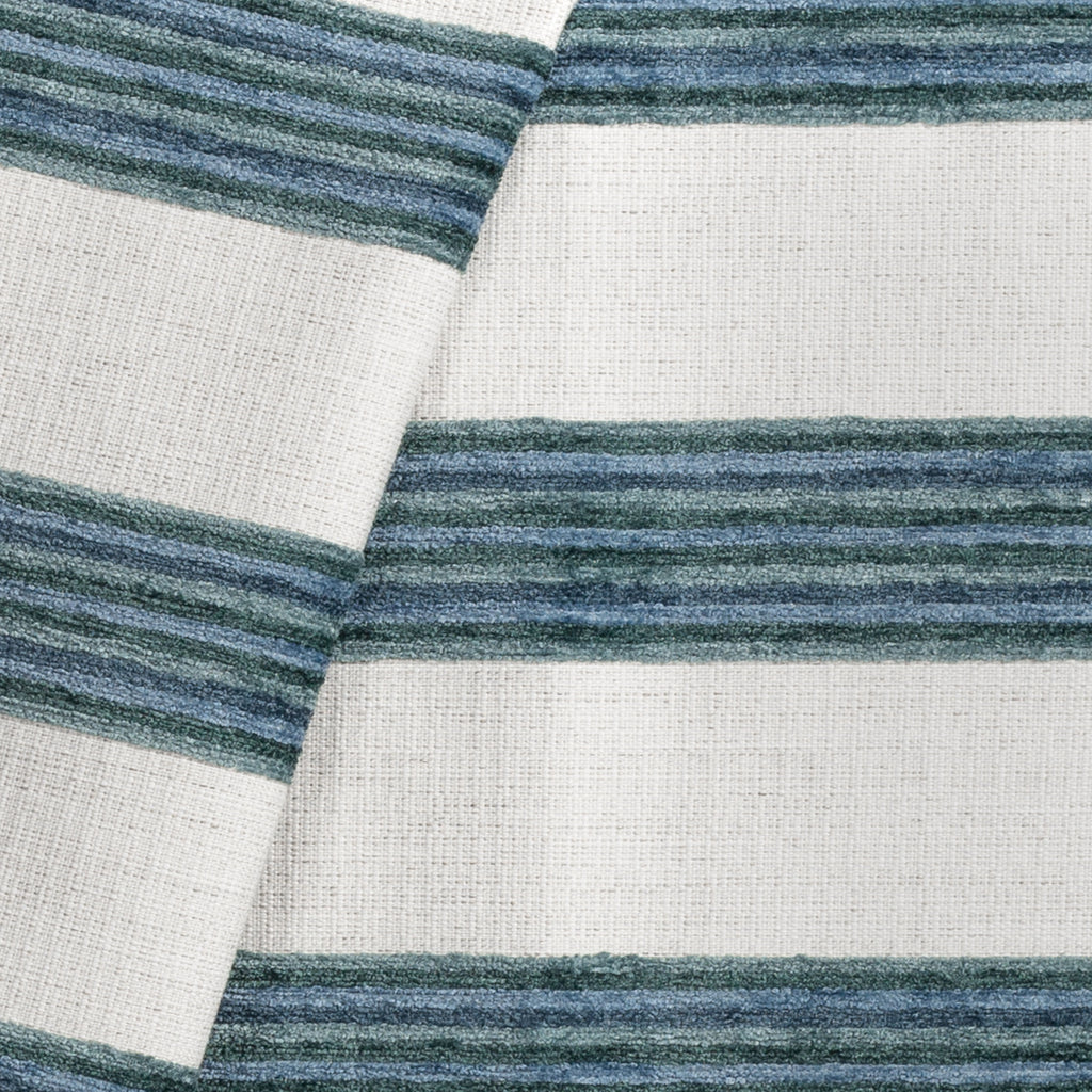 Satori seaside blue and cream stripe fabric from Tonic Living