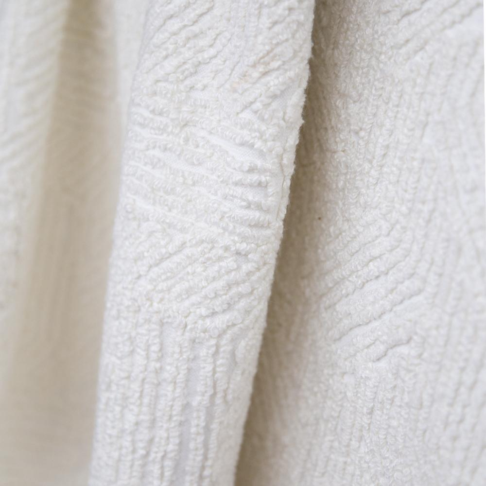 Shantay cloud white chenille embroidered fabric from Tonic Living