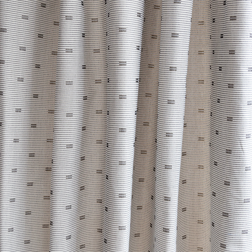 Slivio a modern cream and black geometric stripe fabric from Tonic Living