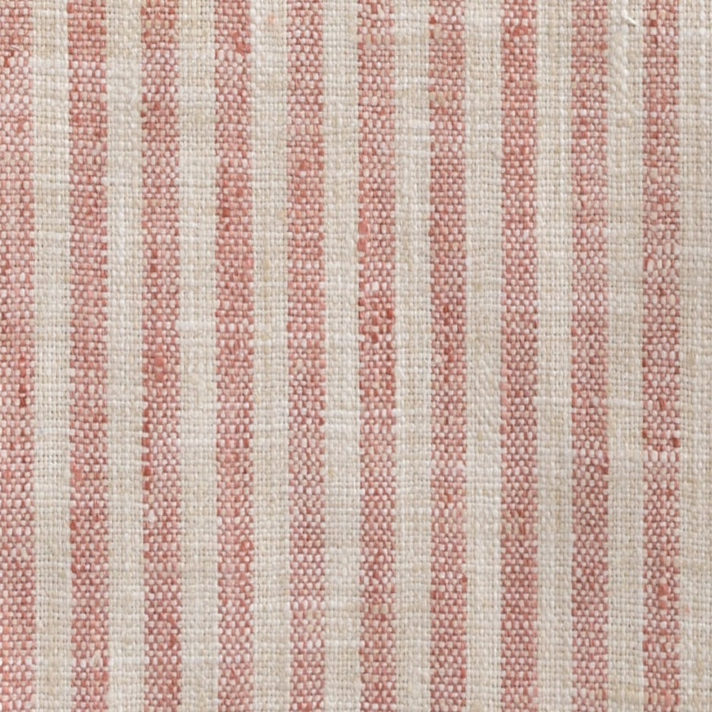 "REMNANT 40"" Simple Stripe fabric, washed coral, by Tonic Living"