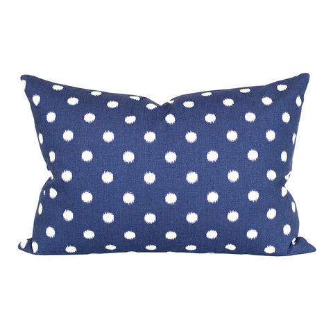 Small Ikat Dot, Navy