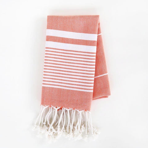 Turkish Towel - The Soho, Tangerine (Hand)