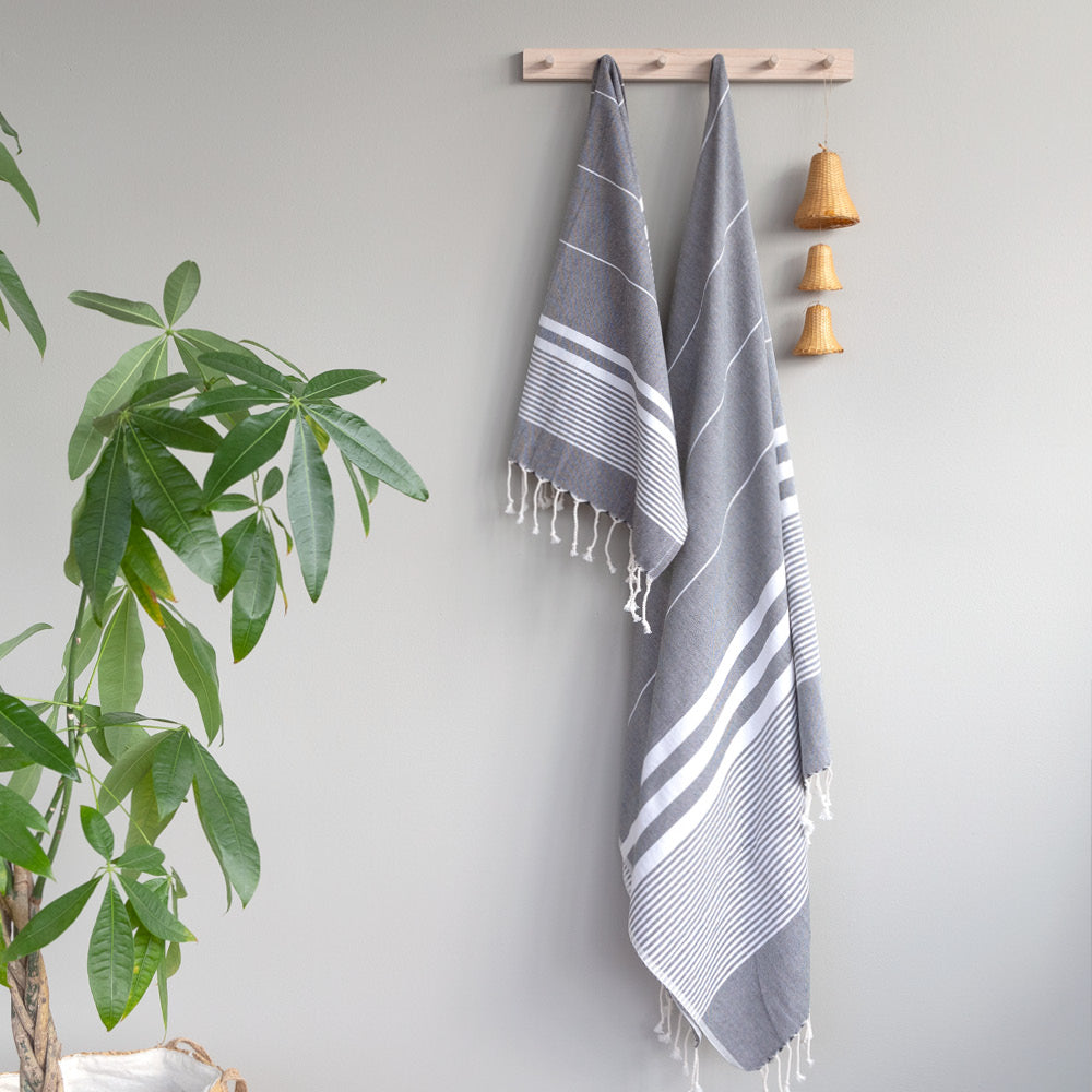 Turkish Towel - The Soho, Slate - [Product_type] - Tonic Living