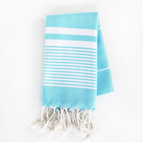 Turkish Towel - The Soho, Turquoise (Hand)