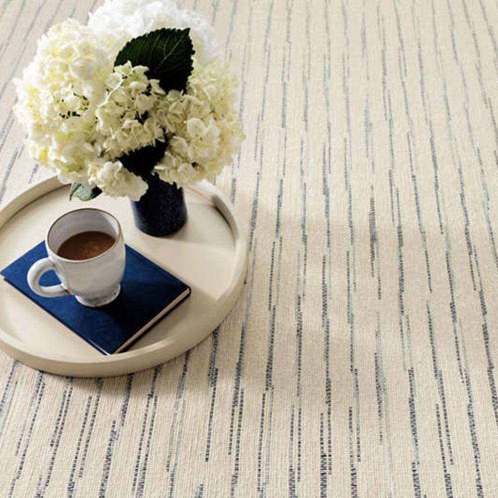 Solana cream and navy blue Dash and Albert rug available at Tonic Living