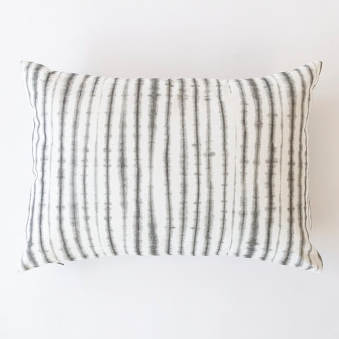 Sonora gray shibori stripe pillow from Tonic Living