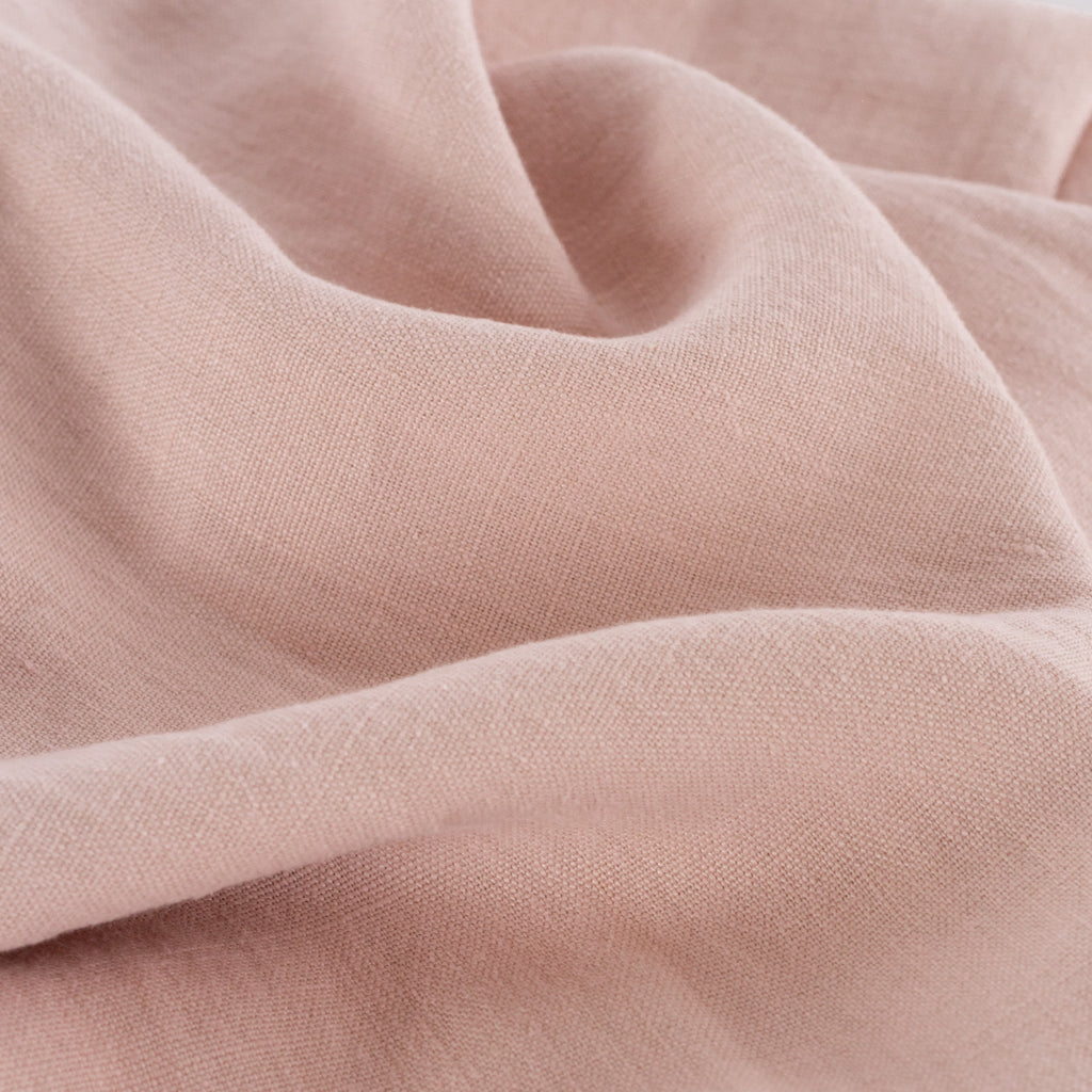 Sorrento light pink linen drapery fabric from Tonic Living